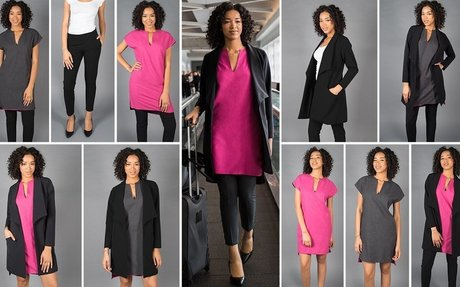 Travel Dress Suit   Women's Three-Piece Suit with Reversible D...