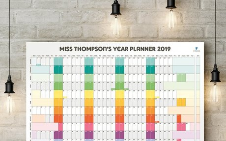 Pirongs | Personalised Wall Planner 2019-2020