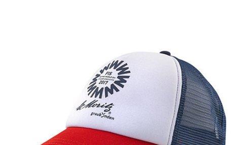 WM-Trucker-Cap St. Moritz in blau von Ski WM St. Moritz im Online-Shop kaufen