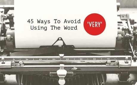 45 Ways To Avoid Using The Word 'Very' - Writers Write