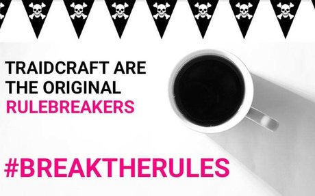 Traidcraft Break the Rules with Transparency Coffee