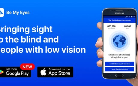 Be My Eyes - Bringing sight to blind and people with low vision