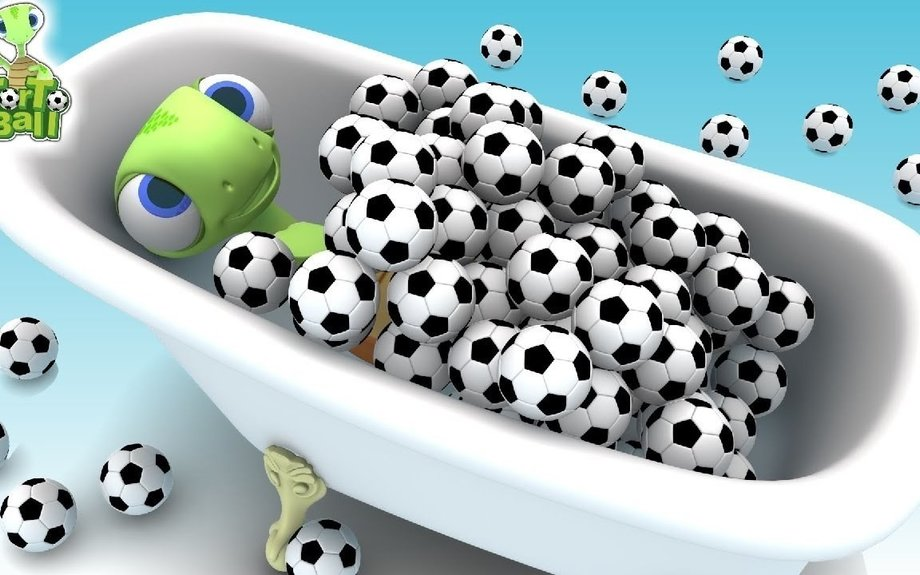 LEARN BALLS - Turtles Bath in Soccer Ball For Children and Kids | TorTo Ball Official
