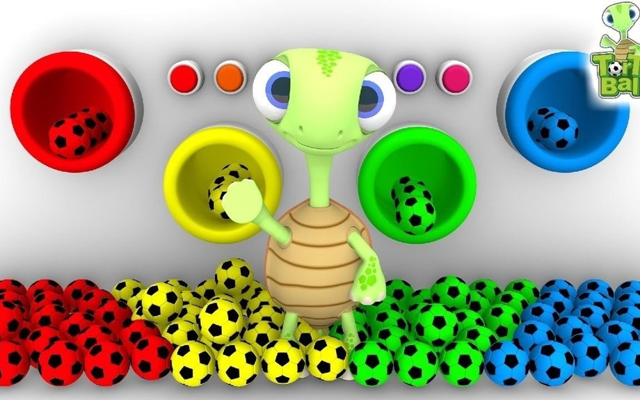 LEARN BALLS - Soccer Ball Colors With Pipes Learn Colors For Children and Kids | Torto Bal