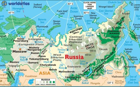 Geography of Russia, Landforms - World Atlas