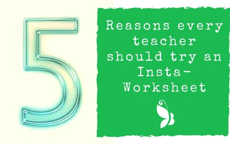 5 Reasons why every teacher should try an InstaWorksheet. - Butterfly Classrooms