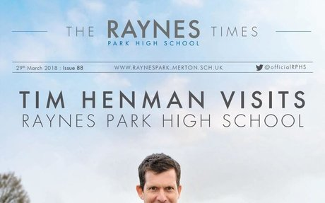 Raynes Park High School Times Issue 88