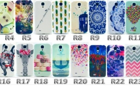 24 Lovely Ultra Thin Soft TPU case for Samsung s4 mini Silicon Gel Back cover Printing Cas