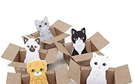 Amazon.com : Buytra 5 Pieces Lovely Cartoon Kitty Cat Sticker Bookmark Marker Memo Flag St