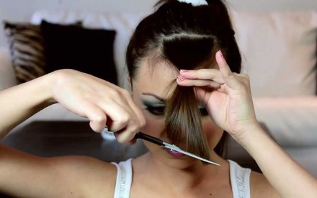How to Cut Perfect Side Swept Bangs