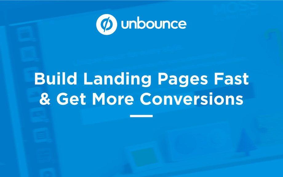 Unbounce - Build Landing Pages Fast & Get More Cpnversions