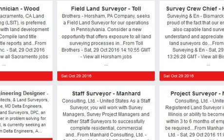 Find Employment in Land Surveying