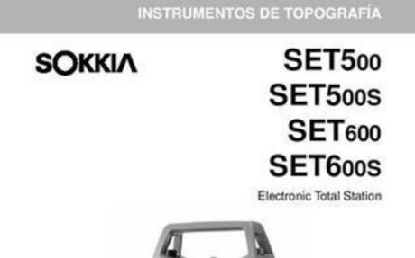 Sokkia SET 500 600 Operators Manual