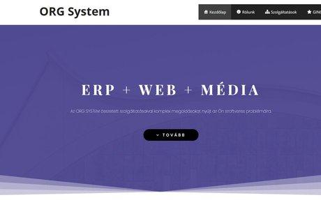 ORG System Kft - weboldalkészítés