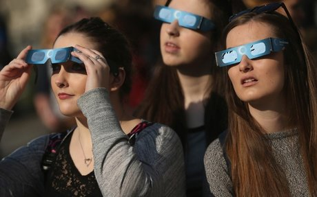What are the dangers of looking at a solar eclipse?