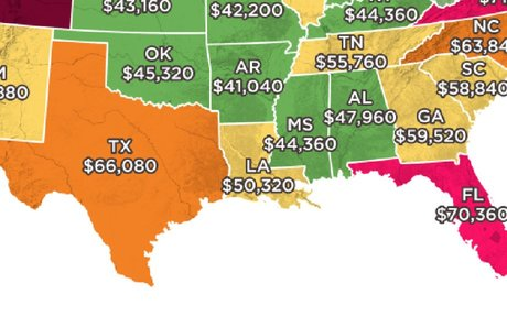 This Map Shows How Much Money You Need To Earn To Afford A Home In Every State