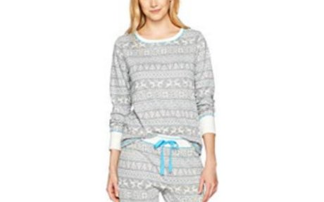 Amazon.com: Mae Women's Sleepwear Vintage Thermal Loose Fit Pajama Set: Clothing