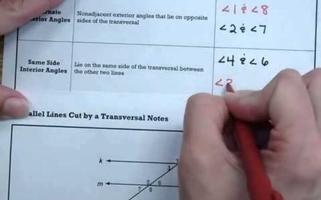 MS 8 Math Parallel Lines Cut by a Transversal