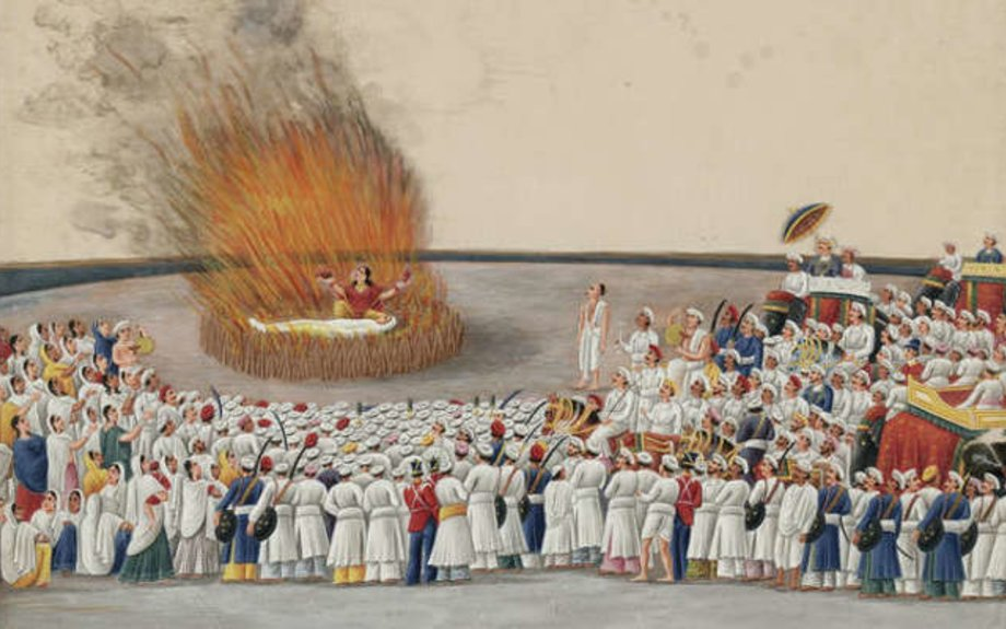 The Practice of Sati (Widow Burning) by:  Linda Heaphy