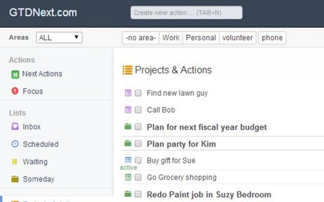Getting Things Done Online Web Application