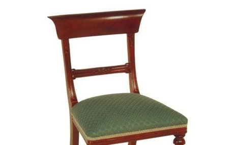 CH 107 Regency Dining Chair – Scroll DC - Regency Dining Chairs By Mahogany By Hand