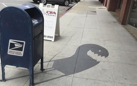 Clever Street Art Brings A Town's Shadows To Life