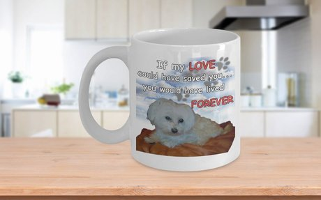 Grieving The Loss Of Maltese Dog Mug