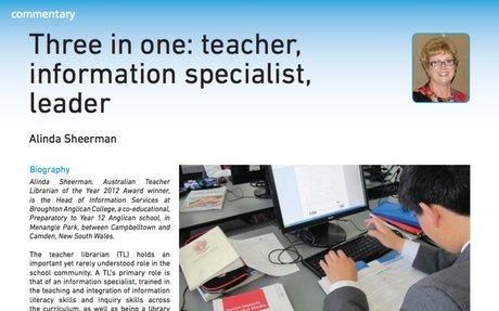 Three in one: teacher, information specialist, leader