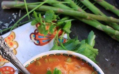 One Pot Lasagna Veggie Soup