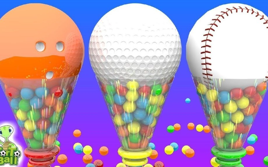 BOWLING BALLS And BASEBALLS Learning For Children and Kids | Torto Ball