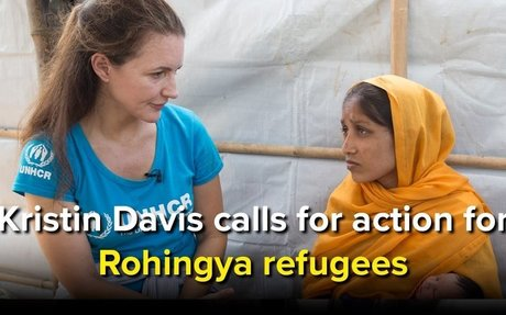 This Thanksgiving Kristin Davis calls for action for Rohingya refugees