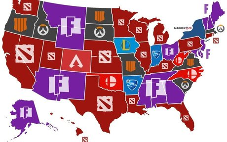 Infographic Shows Most Popular Esports by State — GeekTyrant