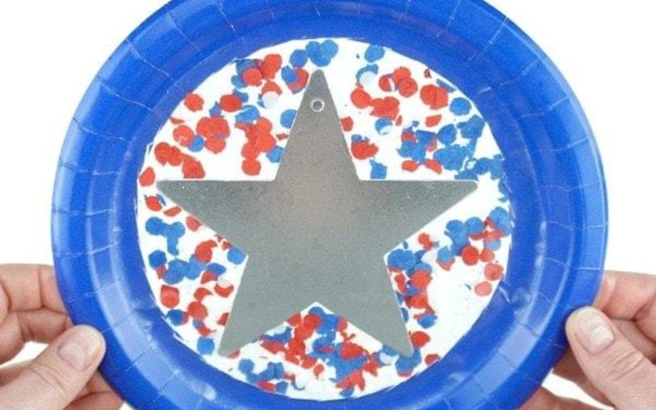 Paper Plate Patriotic Suncatcher Craft