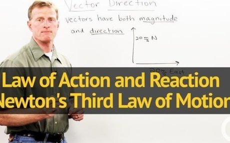 Law of Action and Reaction - Newton's Third Law of Motion - Physics Video by Brightstorm