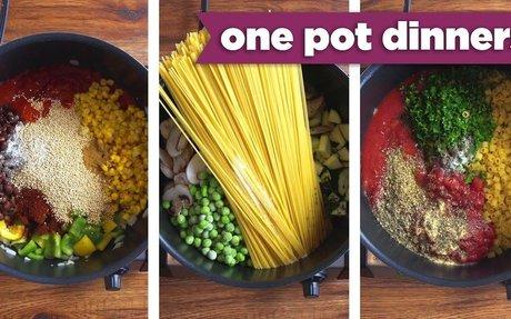 Healthy One-Pot Dinner Recipes! Pizza Pasta, Taco Quinoa, + BONUS Recipe! - Mind Over Munc