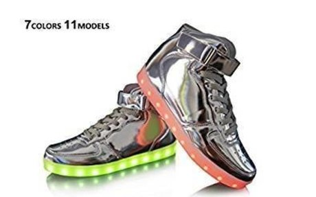 Amazon.com | Dellukee USB Charging LED Lighting Shoes Fashion Flashing Sneaker | Fashion S