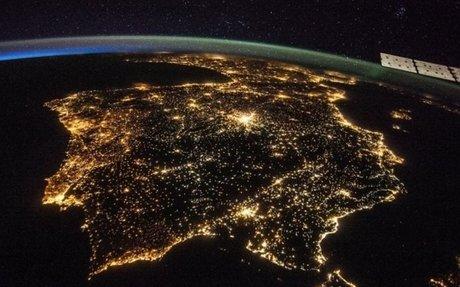 Light pollution map