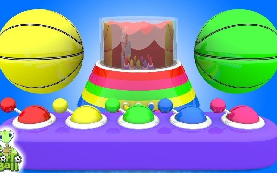 BASKETBALLS Learn Color Painted Ball For Children and Kids | Torto Ball