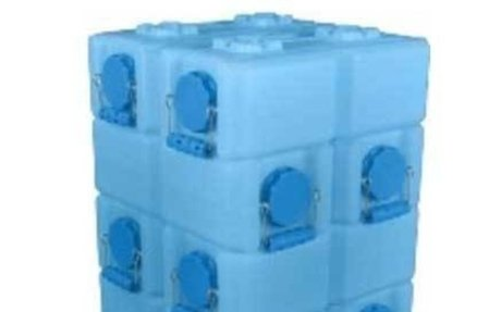NUTRITION-WATER STORAGE-10 Pack of WaterBrick Standard 3.5 Gallon - Blue - Doomsday Prep