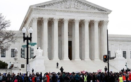 Abortion and free speech dispute divides Supreme Court