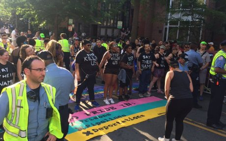 Capital Pride Parade in DC rerouted by police because of protesters