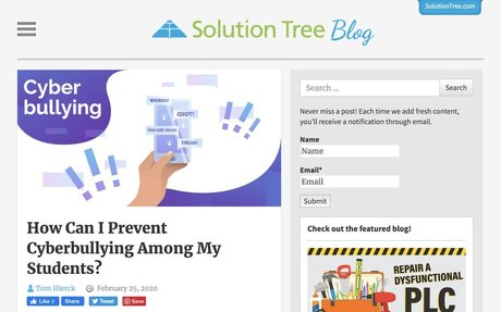 How Can I Prevent Cyberbullying Among My Students? | Solution Tree Blog