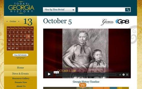 Video: Today in Georgia History - Tomochichi