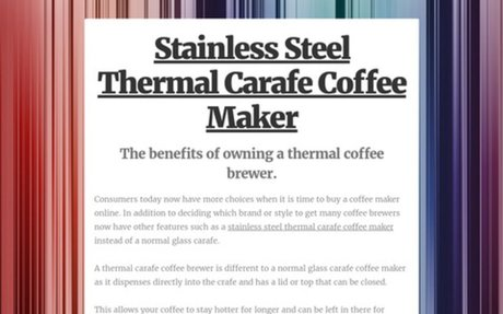 Stainless Steel Thermal Carafe Coffee Maker