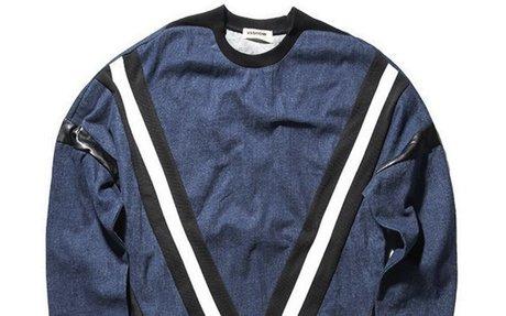 Trendy Urban Wear Printed Denim Sweatshirt