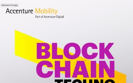 2016-10 Accenture Report: Blockchain Technology