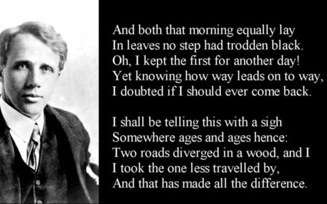 The Road Not Taken by Robert Frost  poem with text