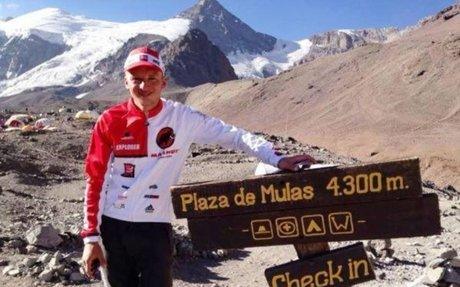 Ecuatoriano Karl Egloff marcó récord en el Aconcagua