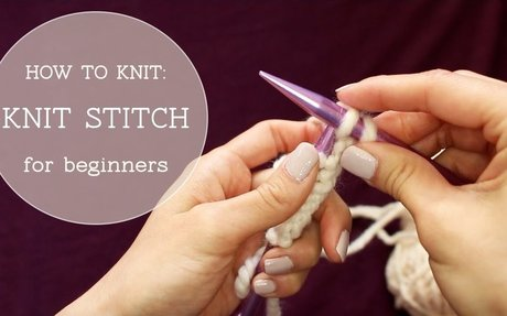 How to Knit - Knit Stitch (beginner tutorial)