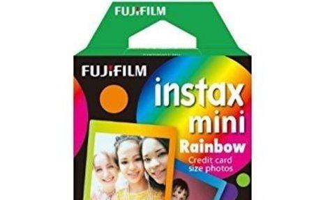 Amazon.com: Fujifilm Instax Mini Rainbow Instant Film, 10 Photos/Pack (Rainbow): Camera &